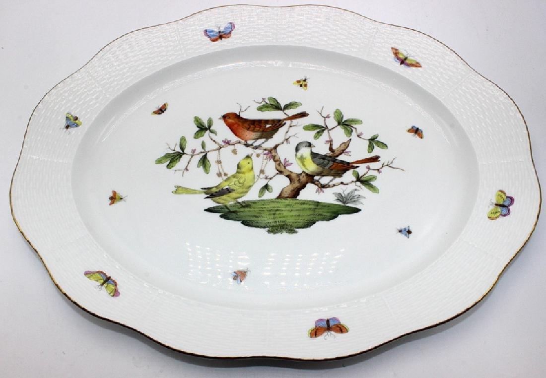 "Herend ""Rothschild"" Platter with Basket Weave Border"