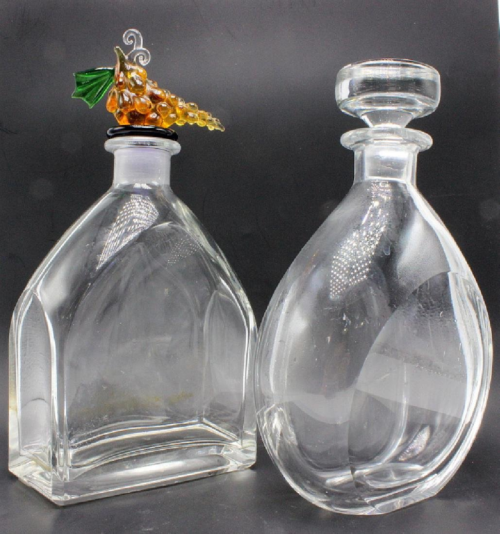 (2) Crystal Decanters - One Signed Orrefors & The Other