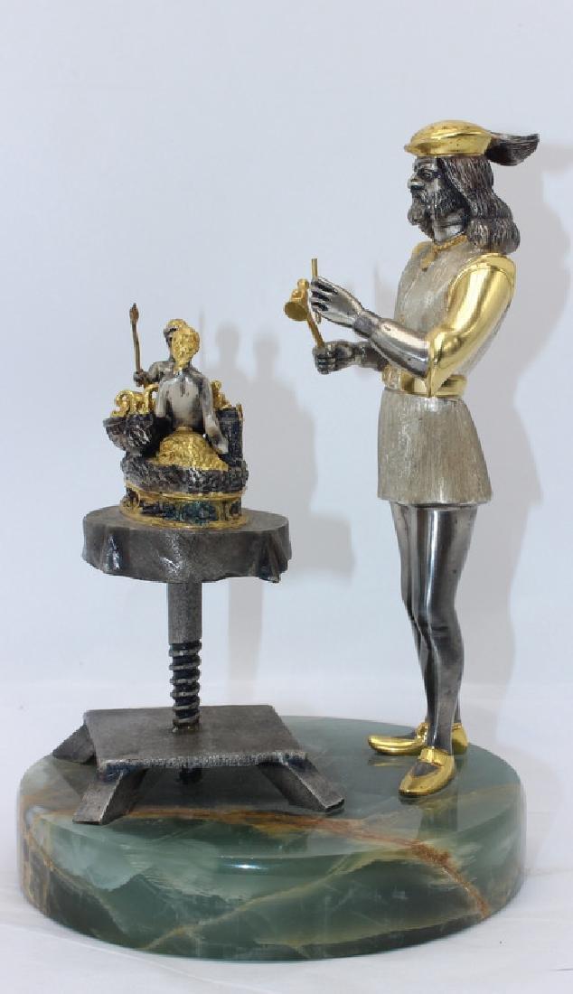Vasari Bronze Gold Plated Figure