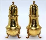 Tiffany  Co English Sterling Gold Vermeil Salt