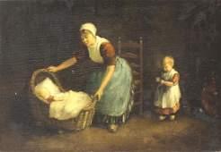 Jan Harm Weyns Dutch b18641923 Antique Oil