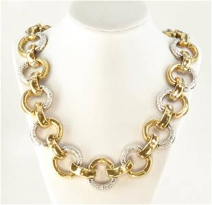Gucci Exquisite 1970's 18Kt YG Bamboo & 20.00ct.
