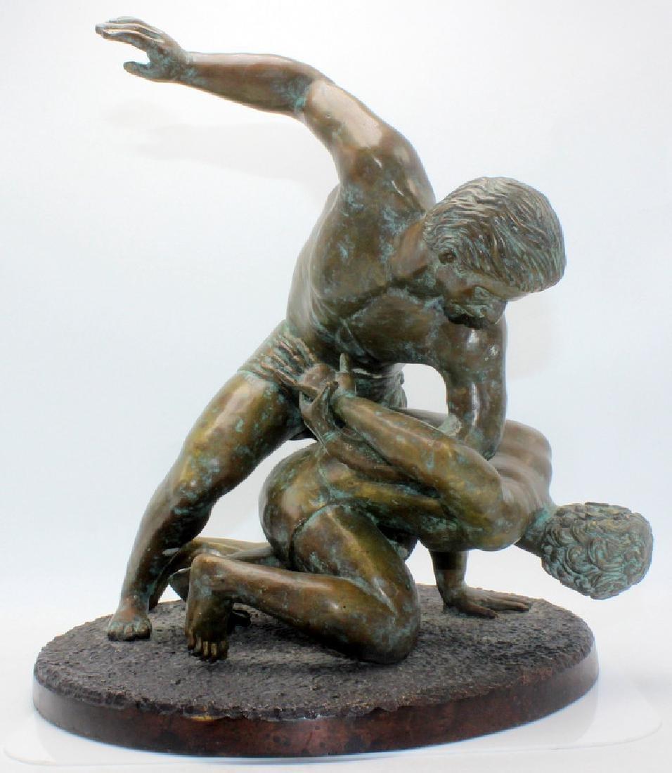 Maitland-Smith Bronze of Wrestlers