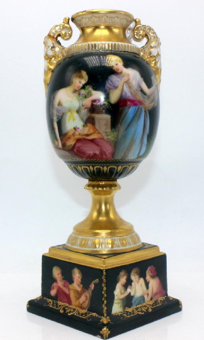 Royal Vienna Hand Painted Vase