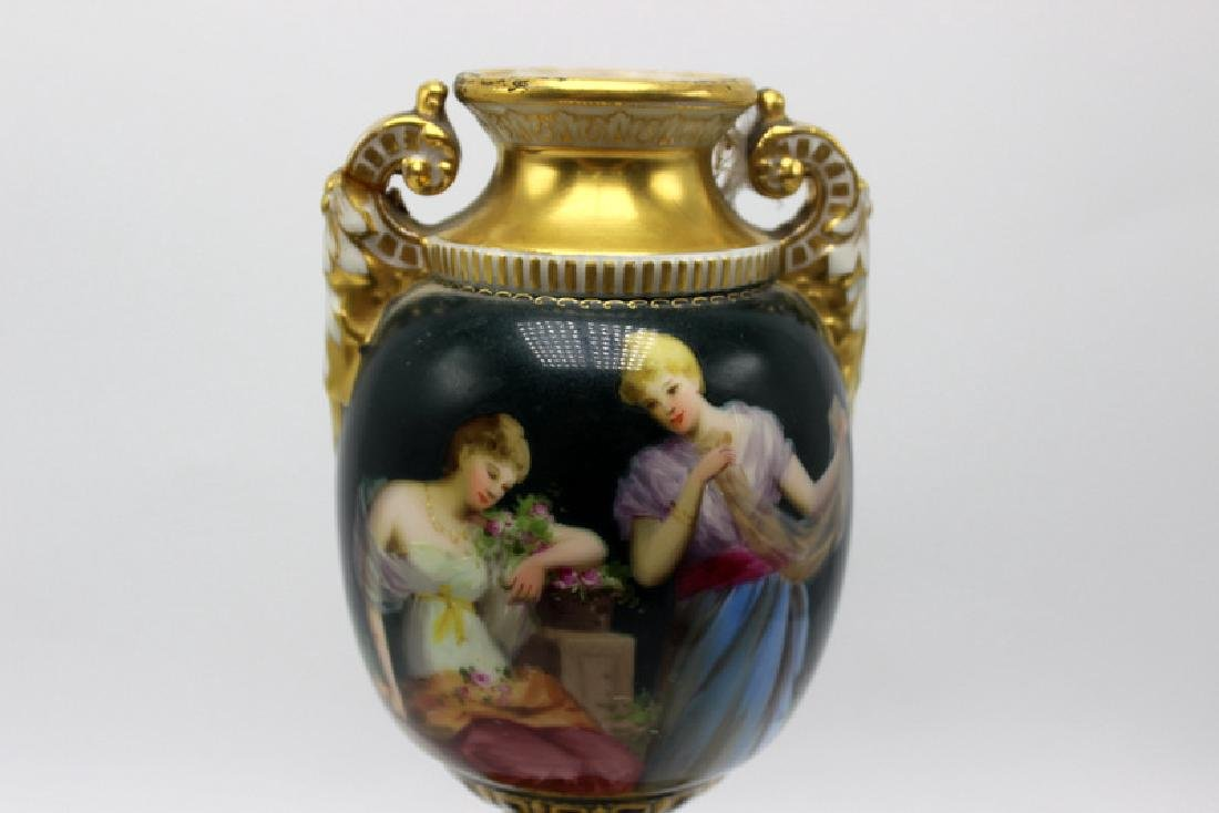 Royal Vienna Hand Painted Vase - 2