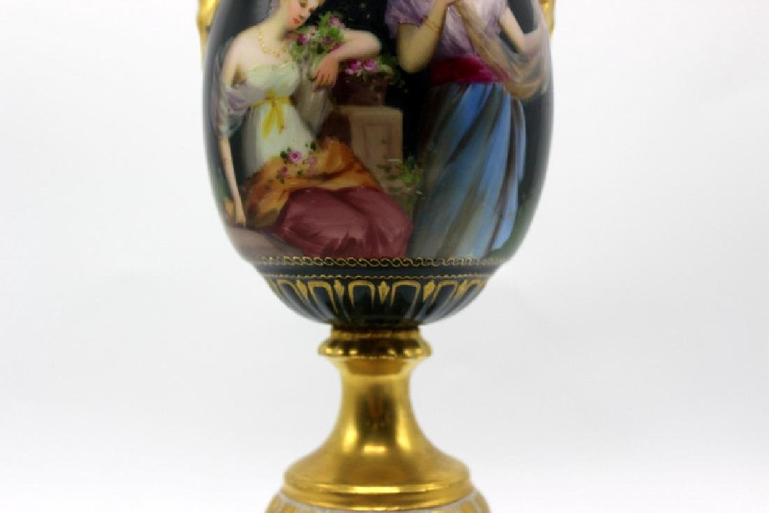 Royal Vienna Hand Painted Vase - 3
