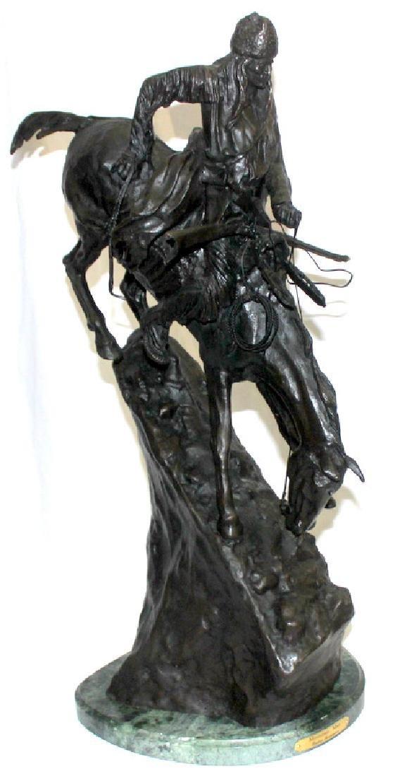 """F. Remington """"Mountain Man"""" Bronze on Marble"""