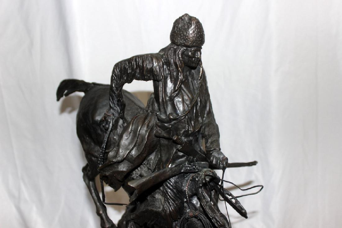 """F. Remington """"Mountain Man"""" Bronze on Marble - 2"""