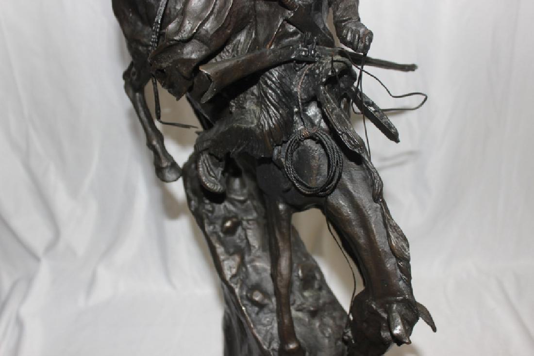 """F. Remington """"Mountain Man"""" Bronze on Marble - 3"""