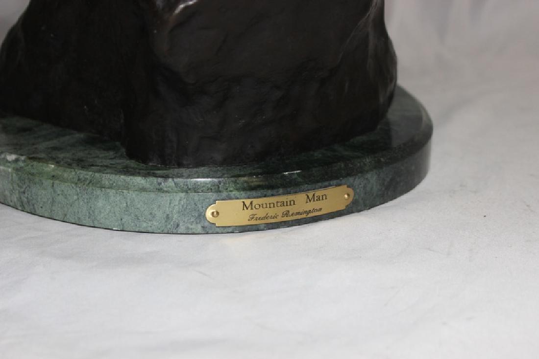 """F. Remington """"Mountain Man"""" Bronze on Marble - 5"""