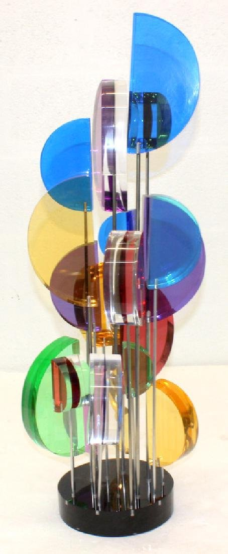 Mid-Century Pixel Glass Centerpiece