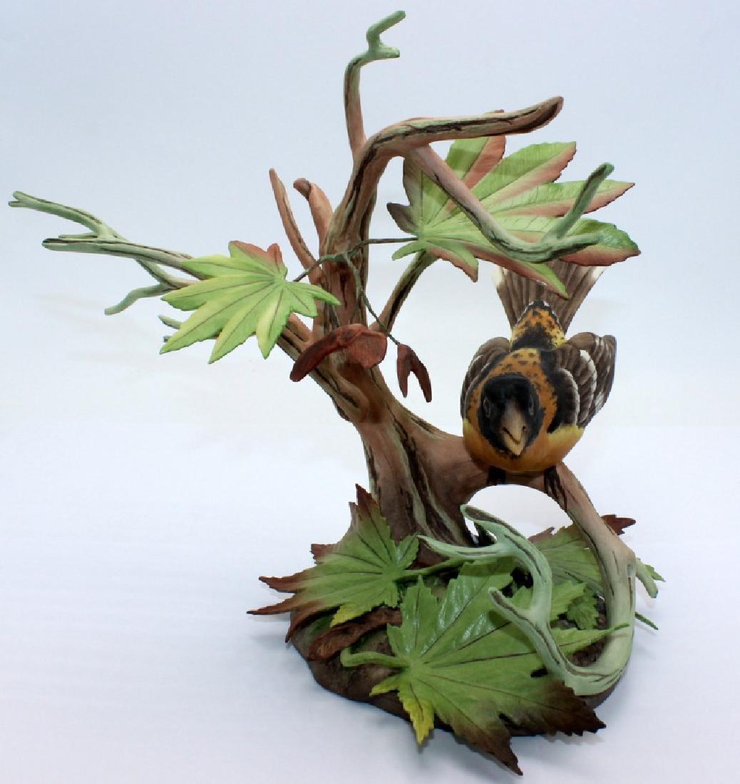 Boehm Flower with Bronze Base, Stem & Leaves