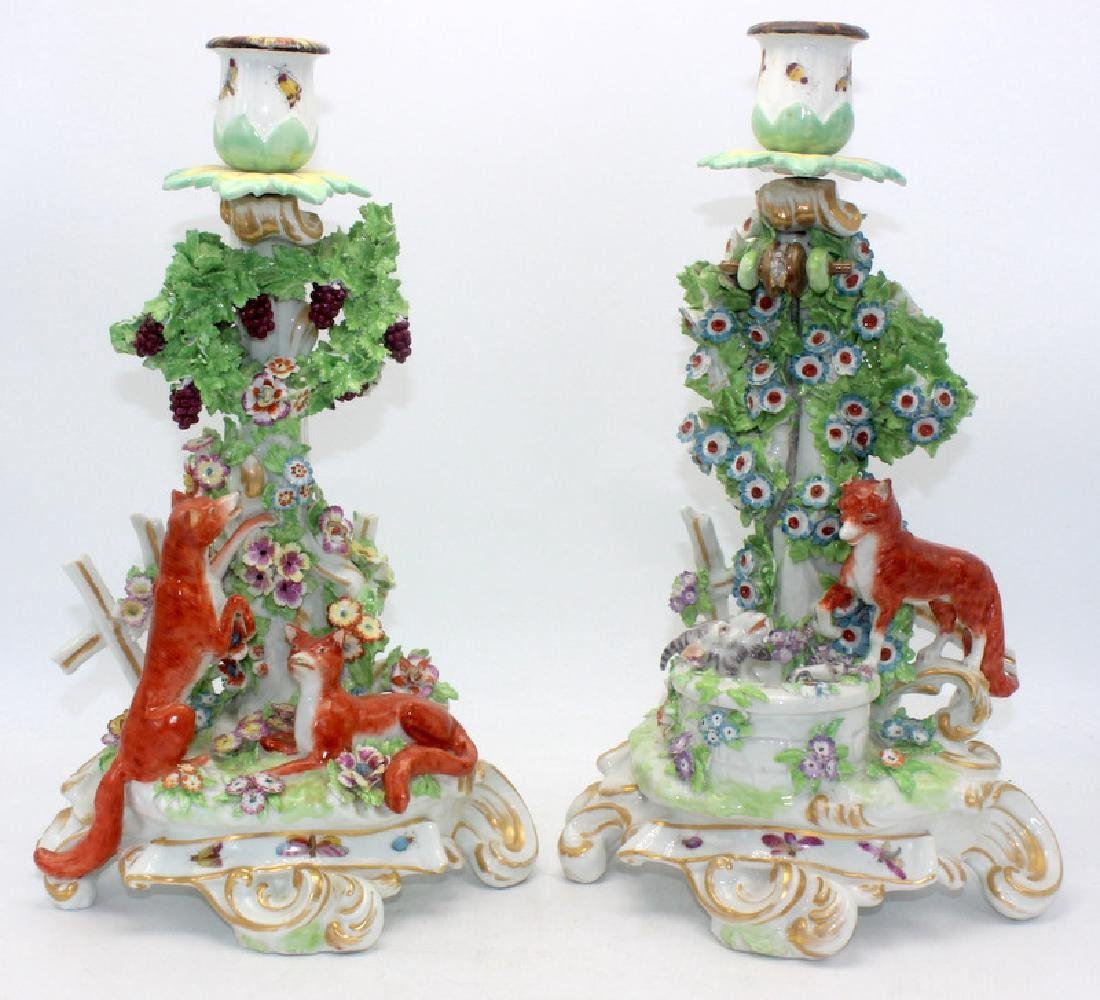 Staffordshire Candlestick Holders