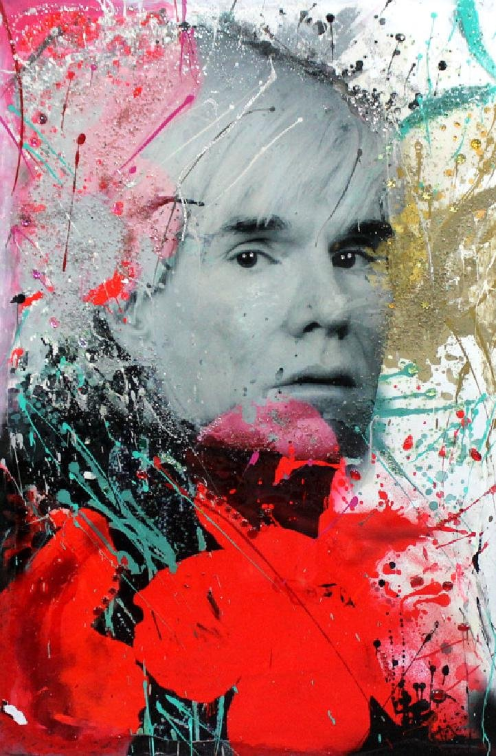 Julie Mimran Tribute to Andy Warhol Mixed Media on
