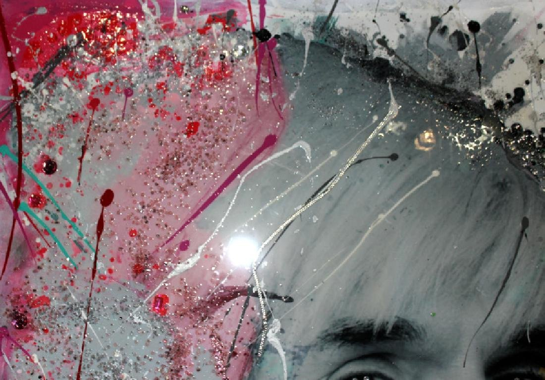 Julie Mimran Tribute to Andy Warhol Mixed Media on - 2