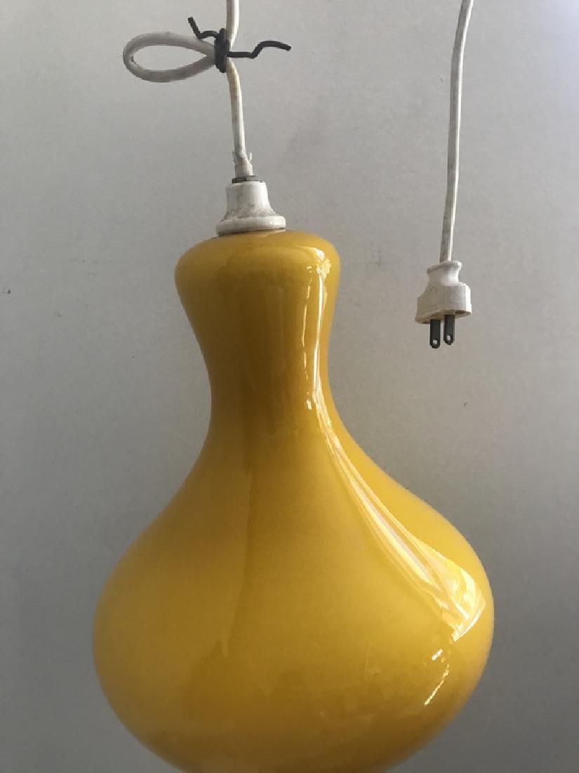 Mid Century Modern Glass Lamp Italian Style Murano
