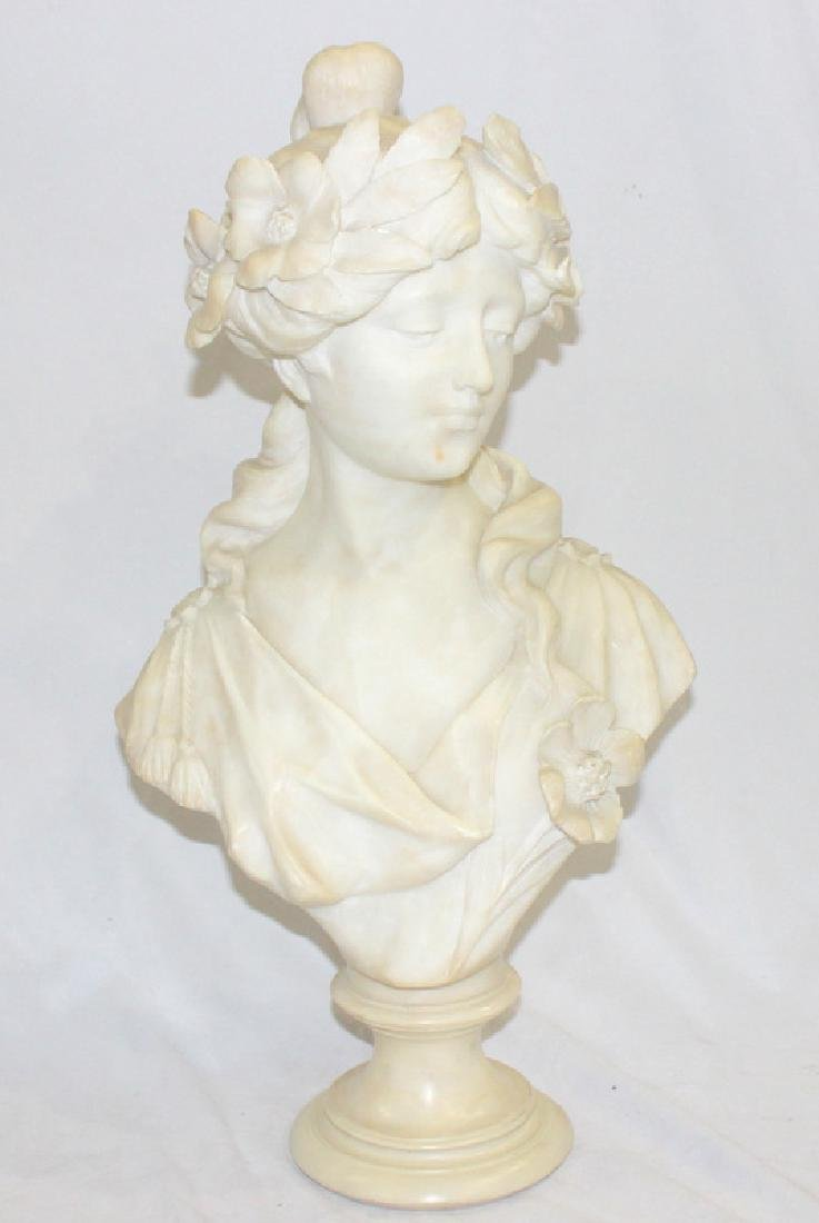 Antique French Marble Bust of a Woman