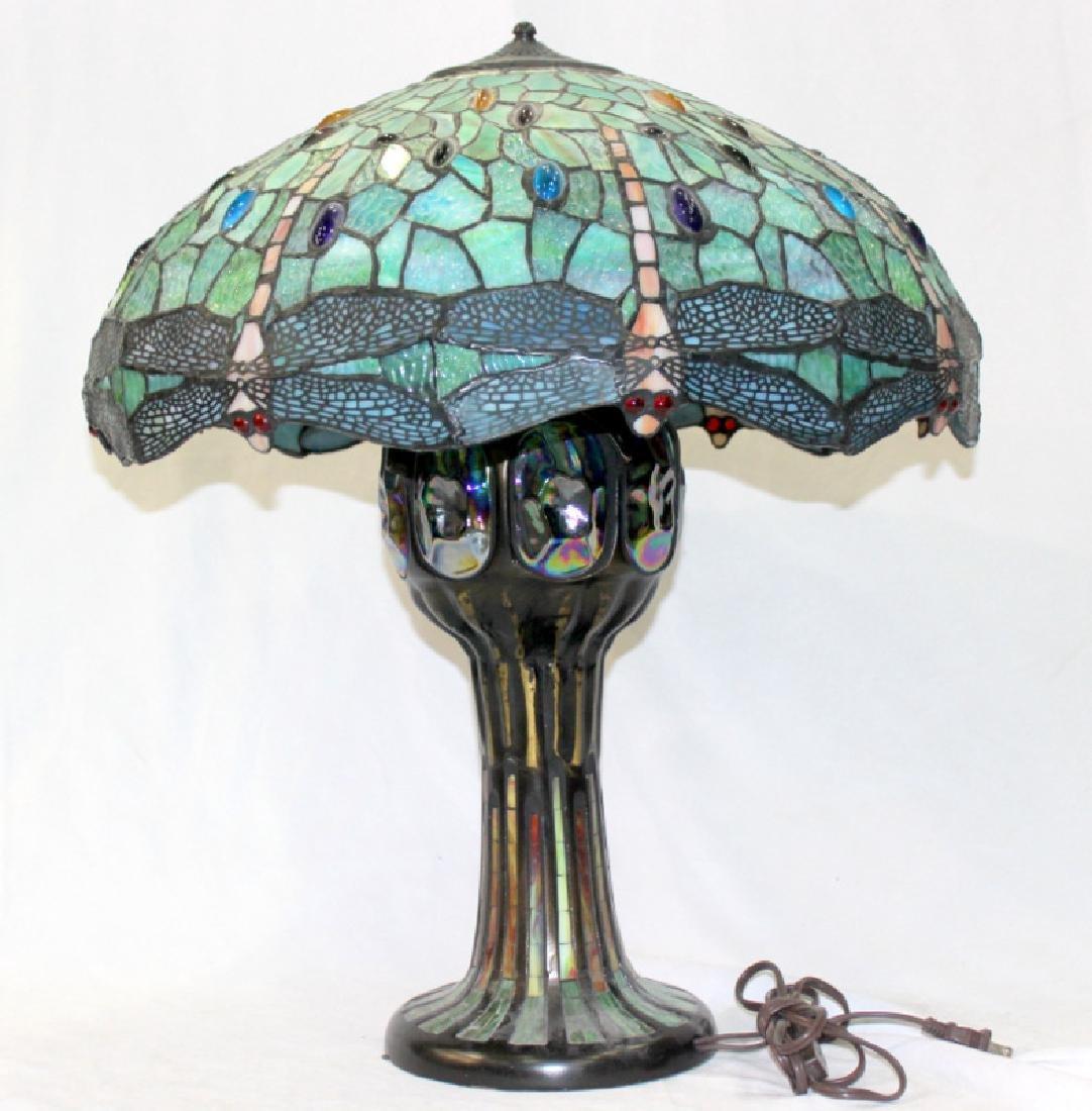Tiffany Style Dragonfly & Mosaic Lamp