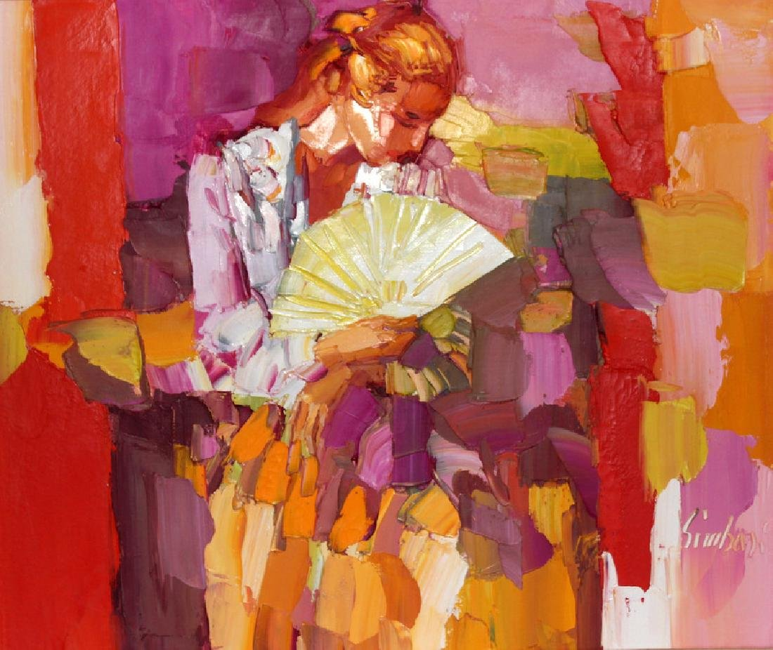 Nicola Simbari (b.1927) Oil on Canvas