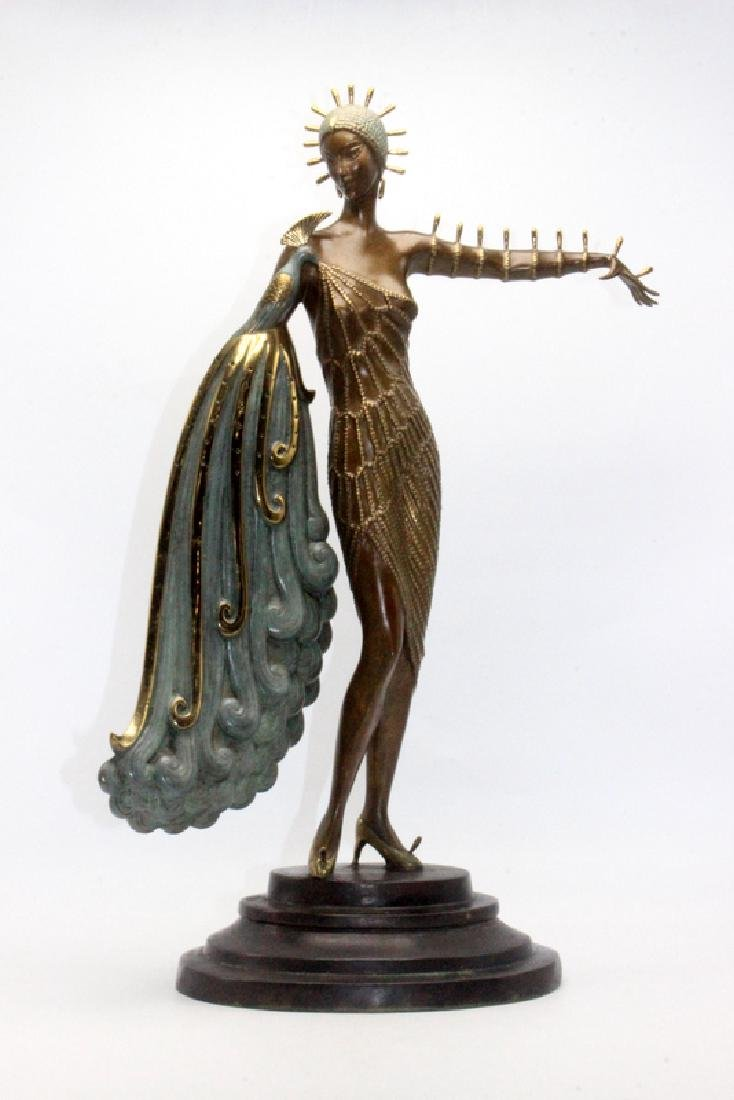 "Erte Bronze ""Diva"" Sculpture"