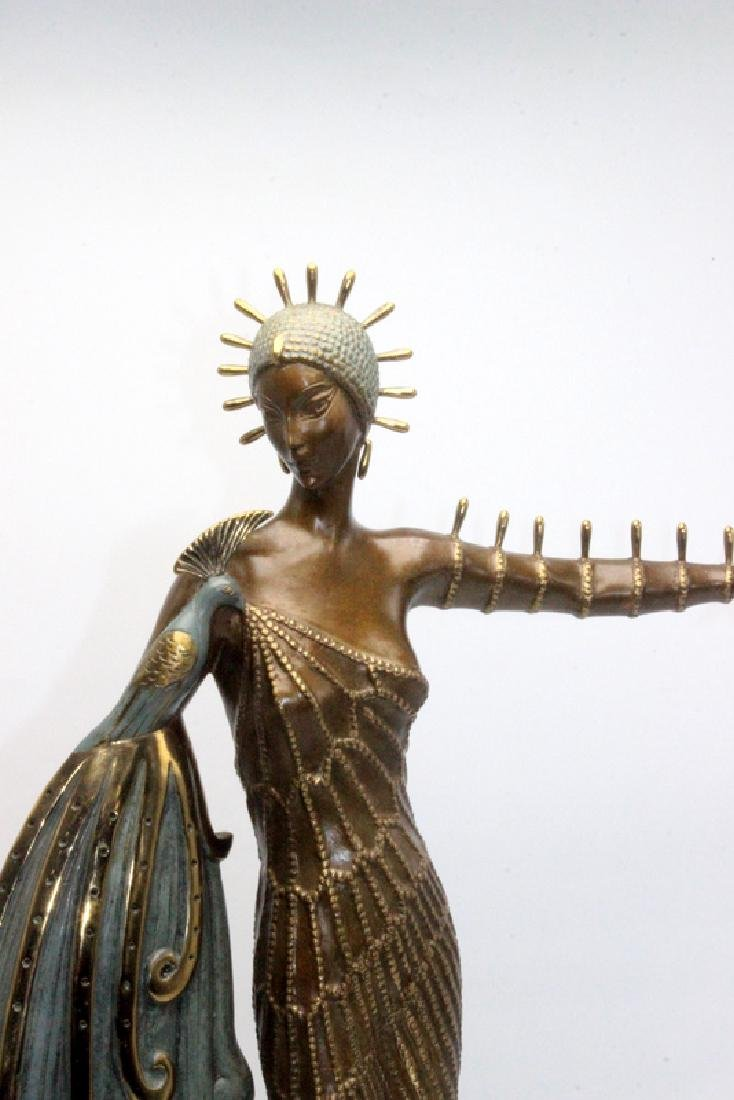 "Erte Bronze ""Diva"" Sculpture - 2"