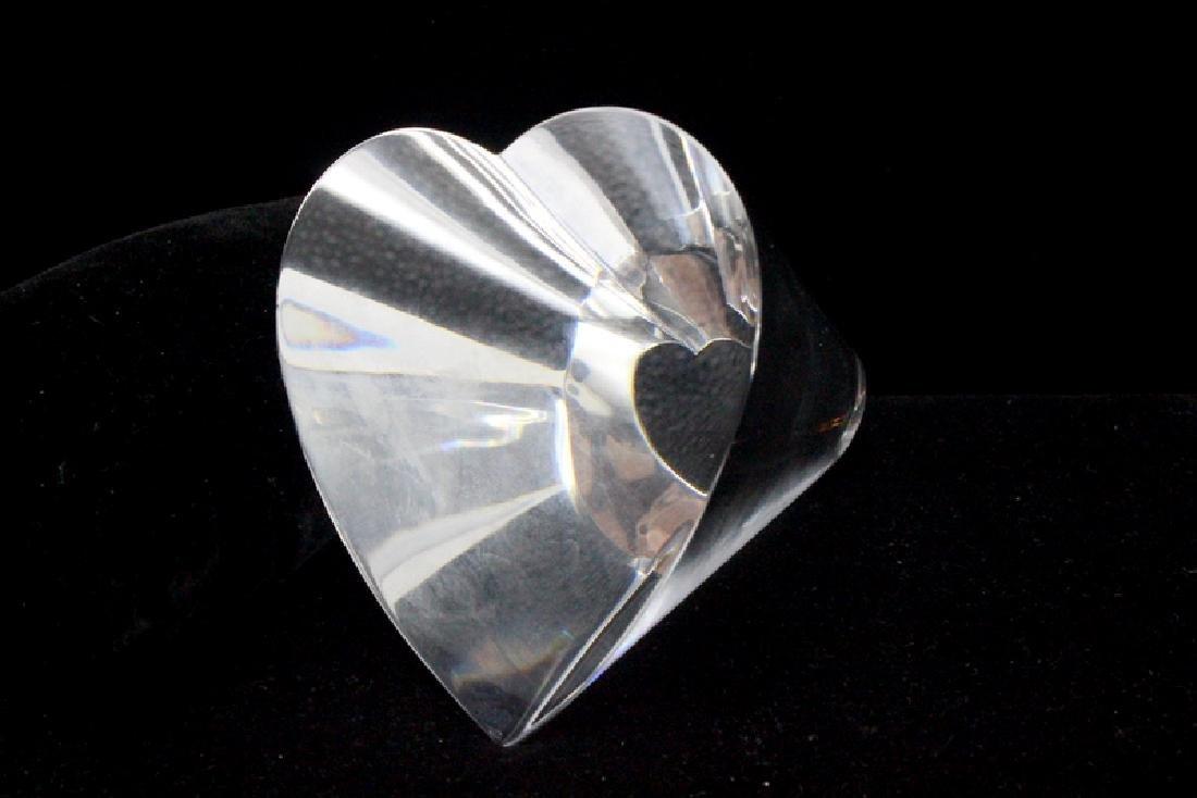 "Steuben Crystal Paperweight ""Heart Throb Love"""