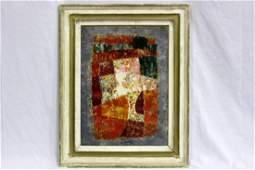 Ota Jaecek (Czech b 1919-1996) Oil on Paper Abstract