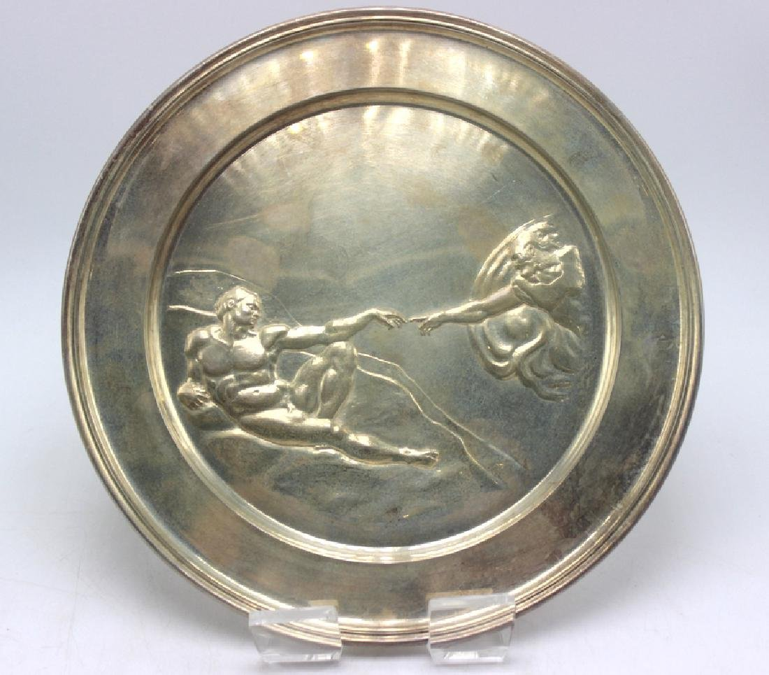 """Danbury Mint """"The Creation of Adam"""" Sterling Silver"""