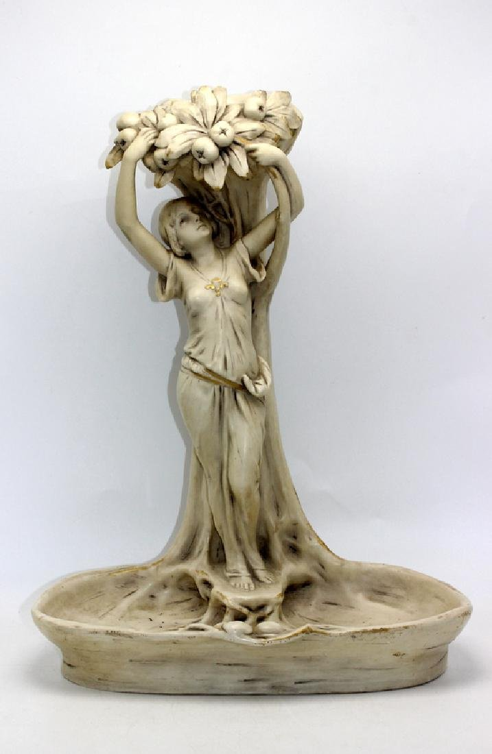 Royal Dux Art Nouveau Porcelain Centerpiece