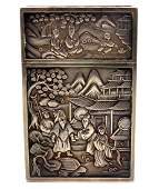 19th Century Chinese Export Silver Card Case