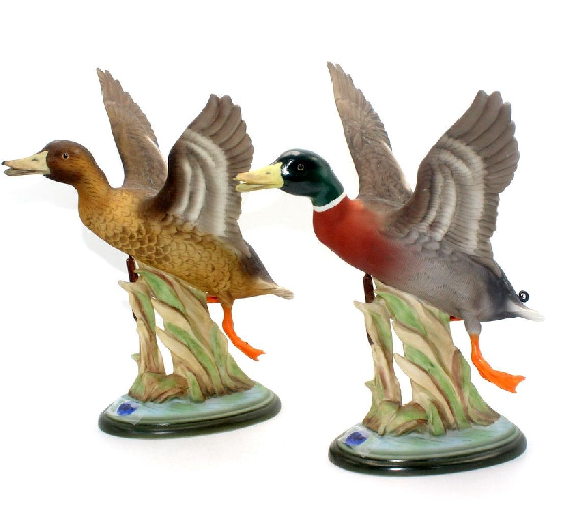 Boehm porcelain Mallard figurines