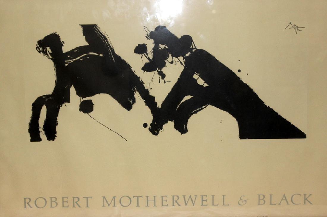 Robert Motherwell & Black Signed Poster