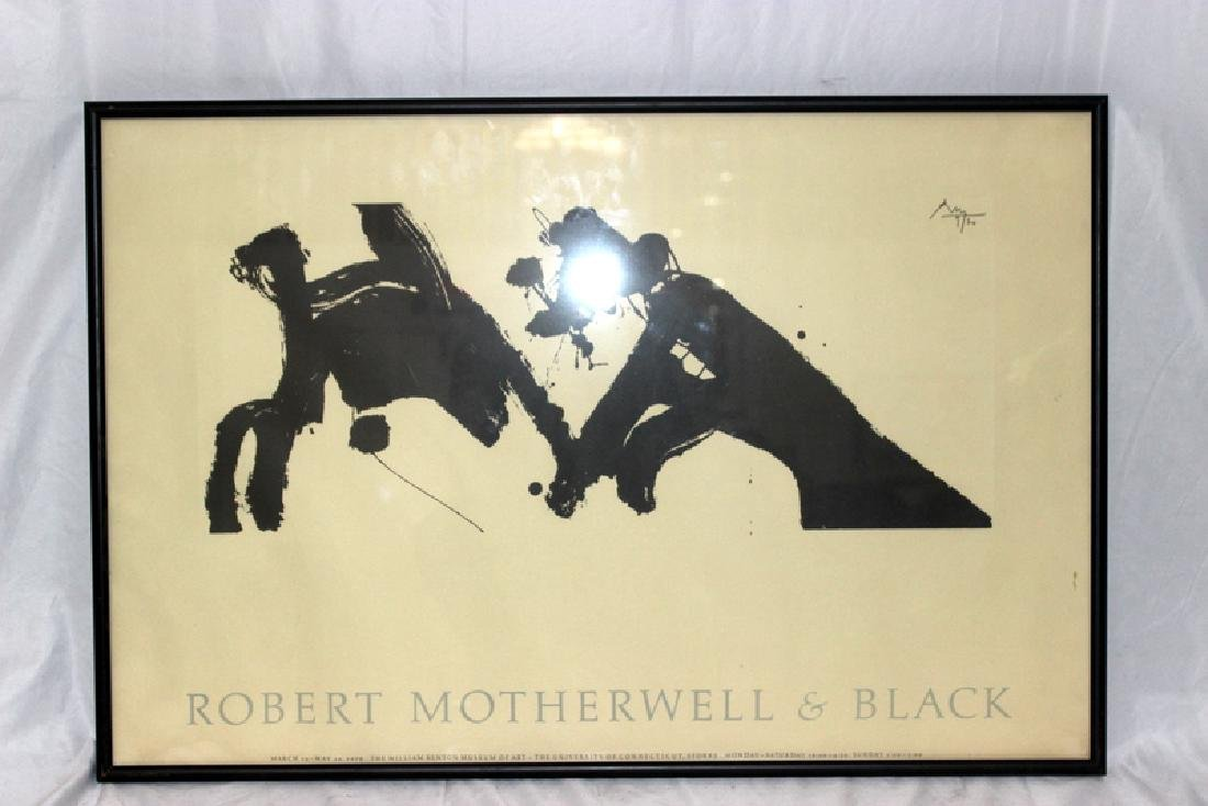 Robert Motherwell & Black Signed Poster - 2