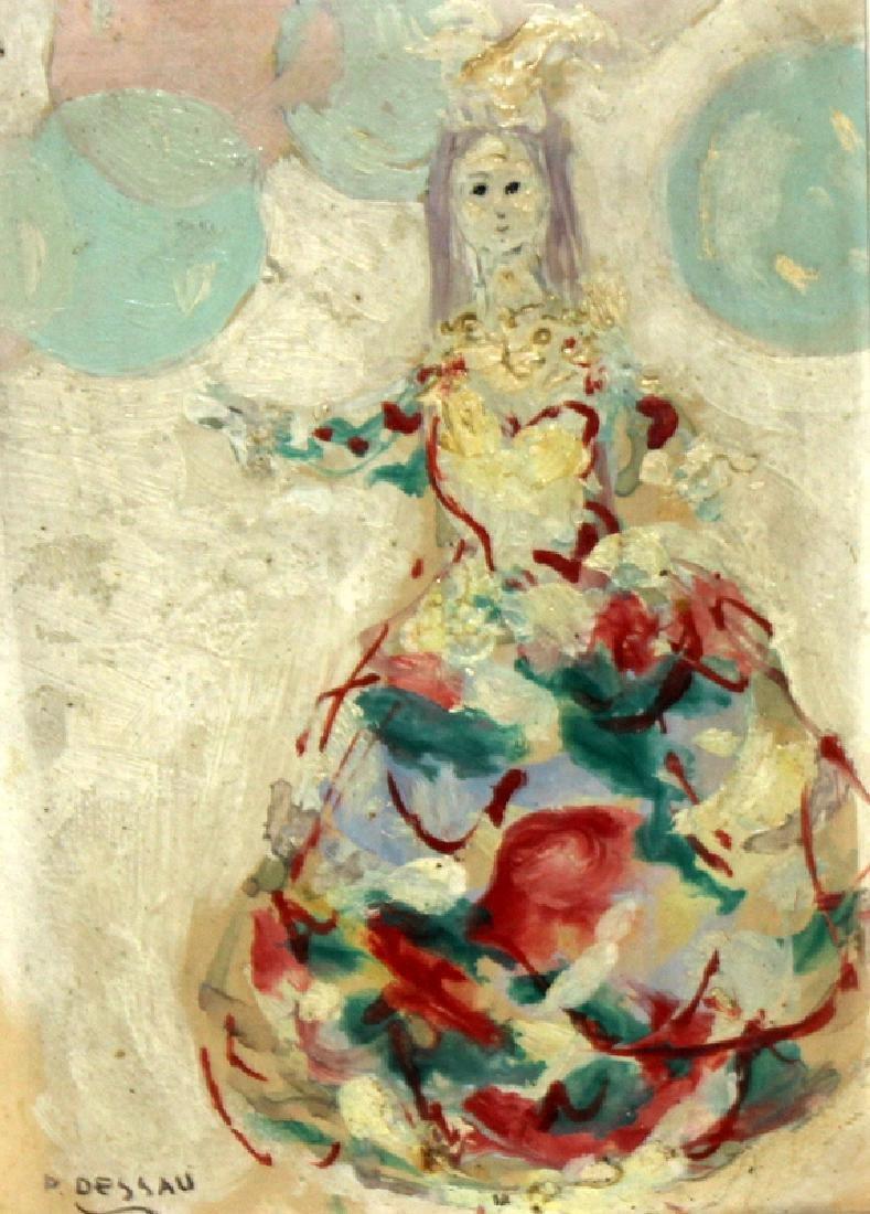 Paul Dessau (German, b.1894-1979) Oil on Board
