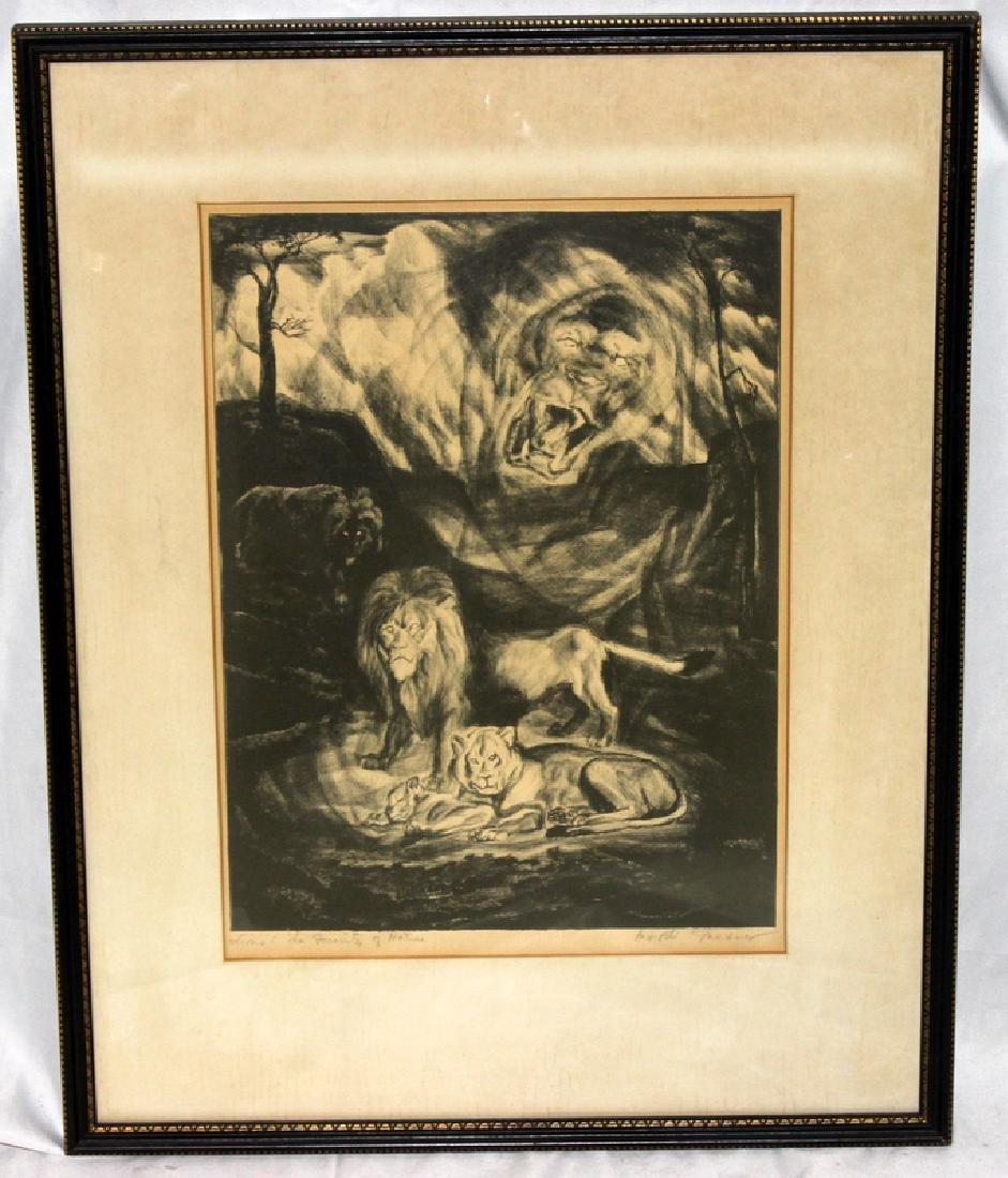 "Mordi Gassner (American, b.1899-1995) ""Lions: The"