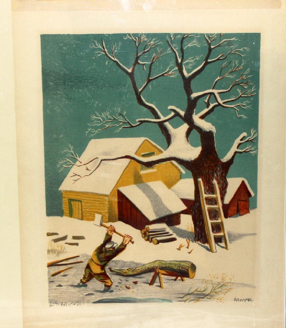 William Gropper (American, b. 1897-1977) Winter Scene