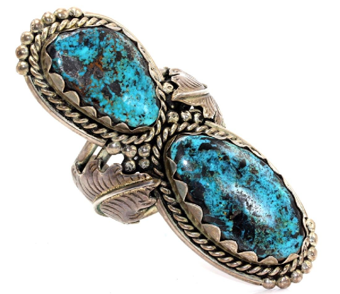 Turquoise & Sterling Silver Bangle Bracelet