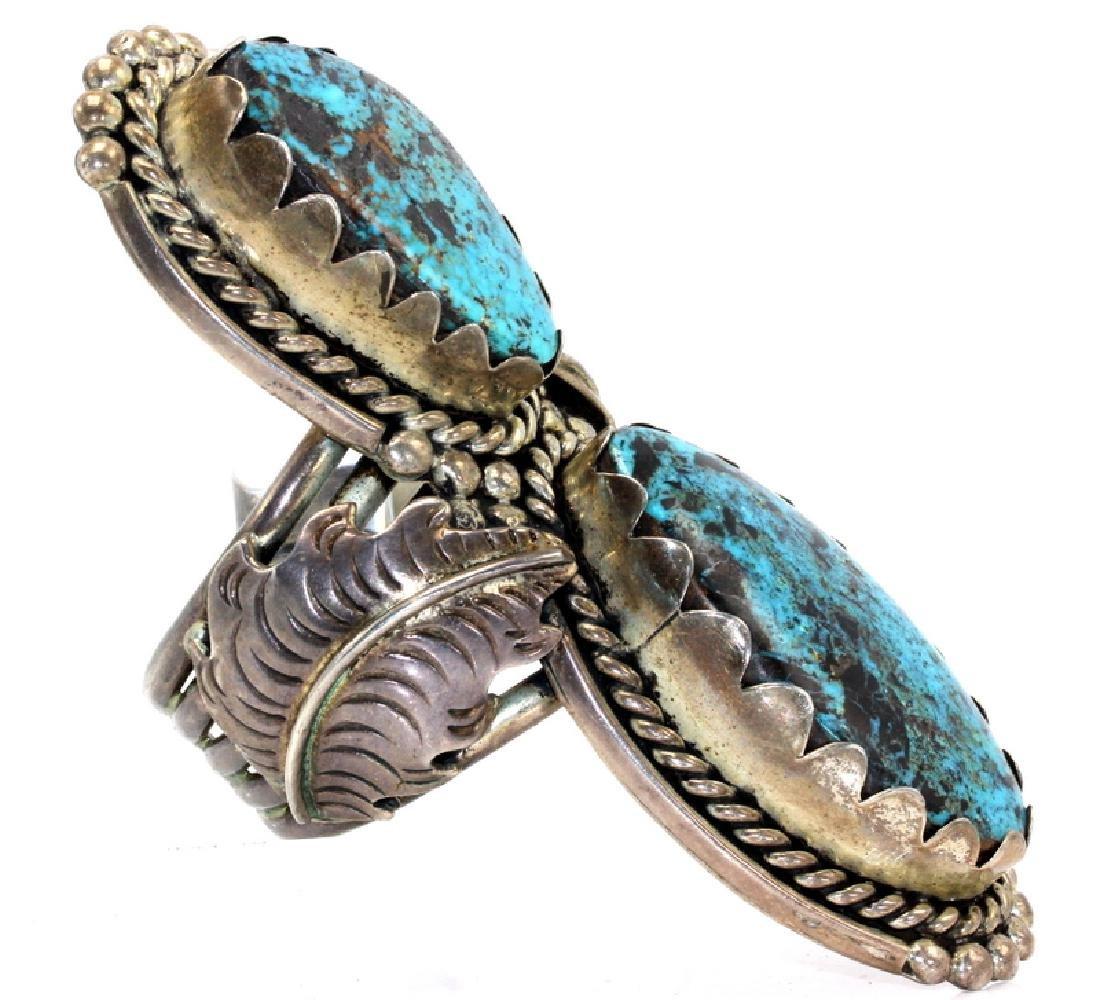 Turquoise & Sterling Silver Bangle Bracelet - 2