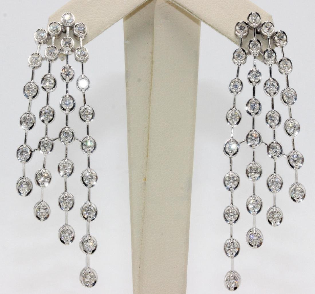 14Kt & 5.53ct. Diamond Earrings