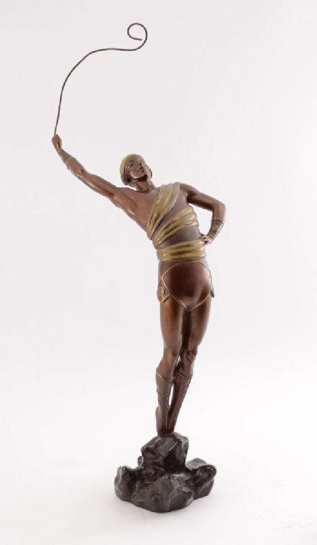 """Erte Bronze Sculpture """"Le Dansuer"""""""
