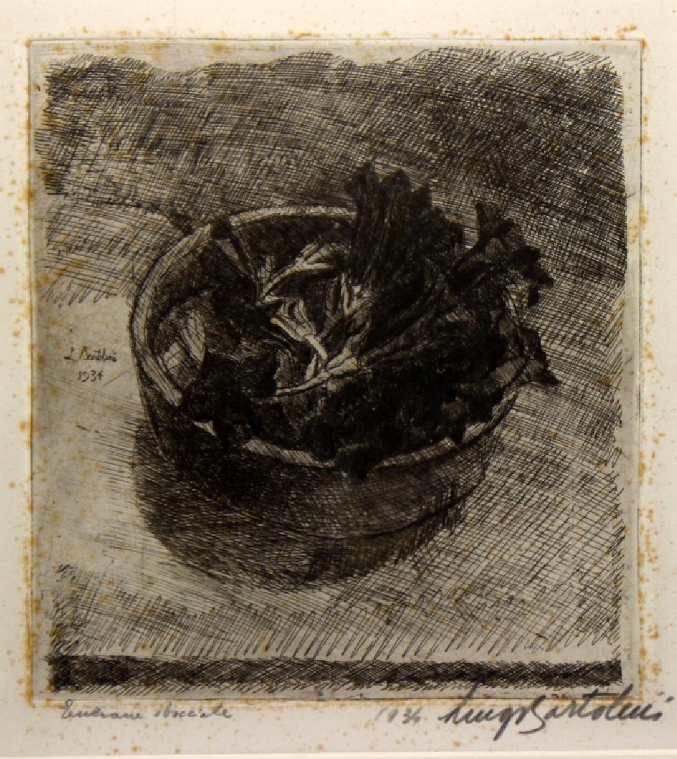 Luigi Bartolini (Italian b. 1892-1963) Etching