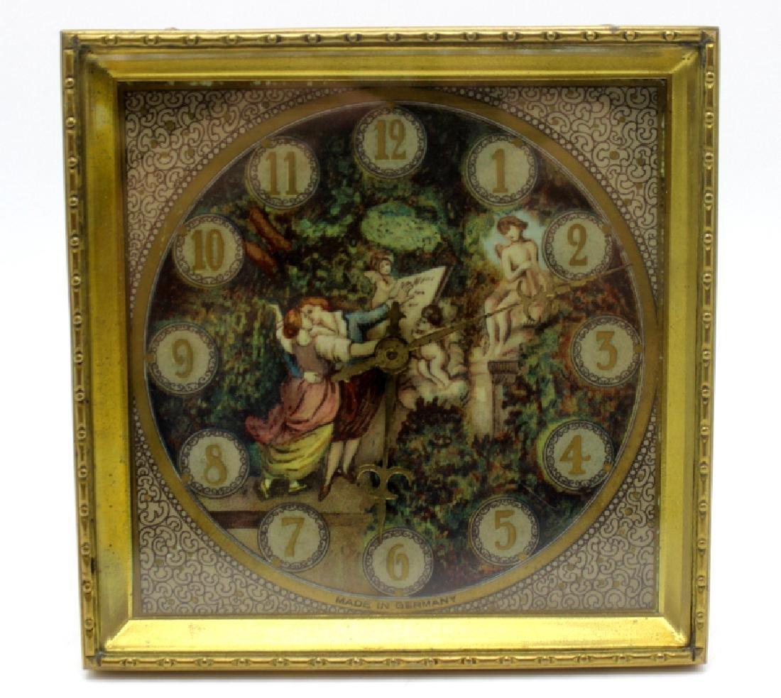 Kienzle Clock Factory Bronze and Porcelain Desk Clock