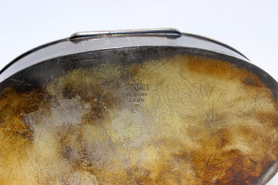 Sterling Silver & Enamel Decorated Trinket Box - 4