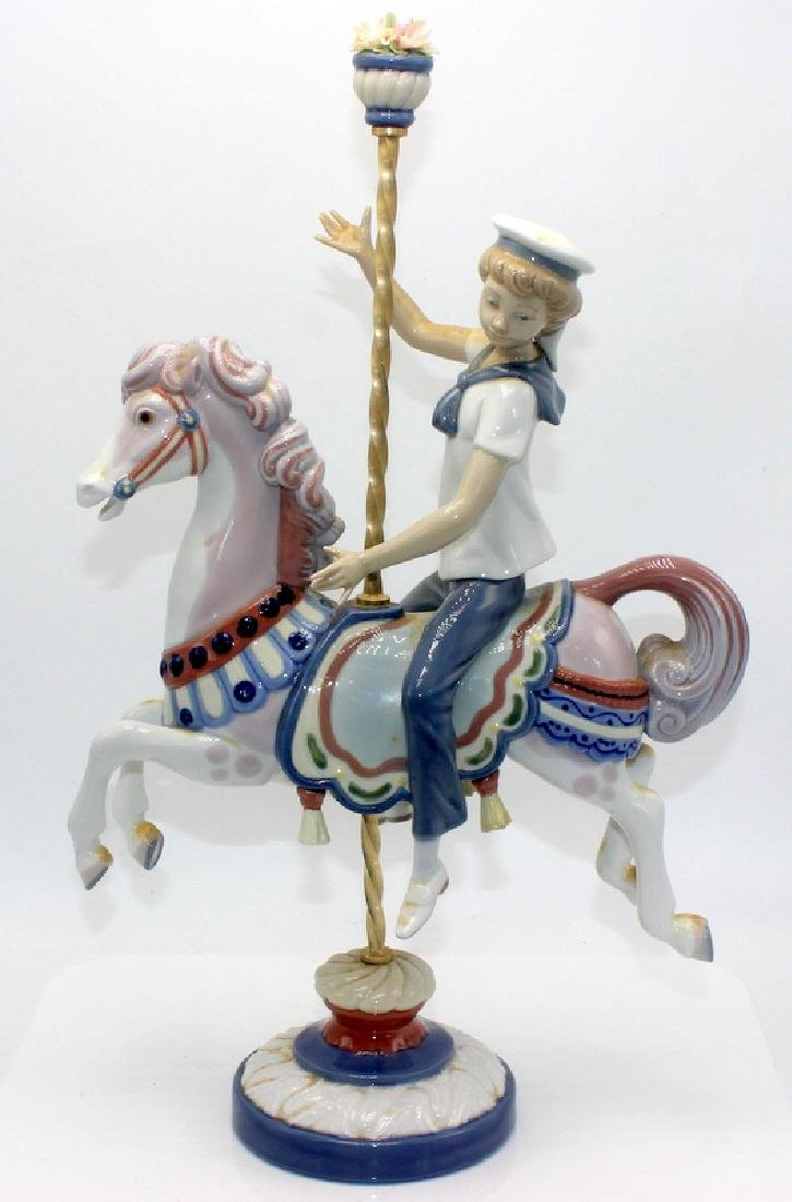 Lladro #1470 Boy on Carousel Horse