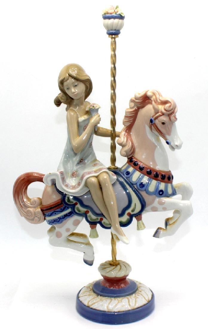 Lladro #1469 Girl on Carousel Horse