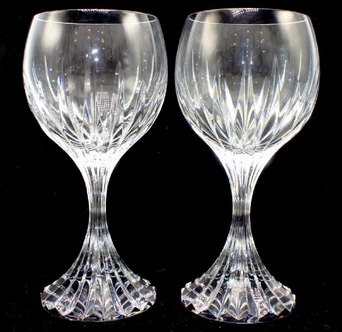 8 Baccarat Crystal Massena Goblets