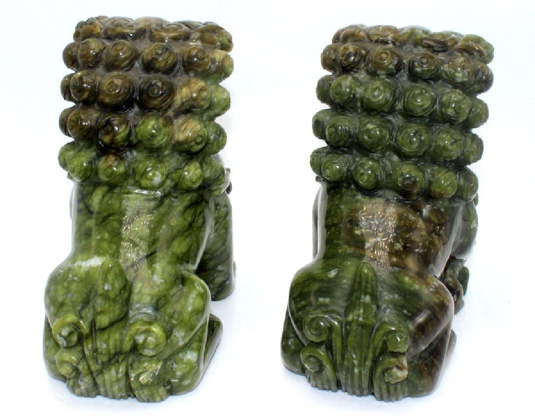 Antique Chinese Jade Foo Dogs - 4
