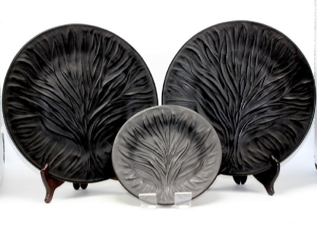 """(3) Lalique """"Algues"""" Plates"""