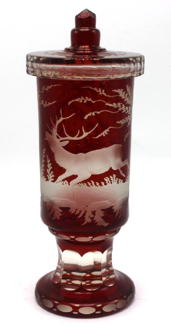 Bohemian Ruby Crytal Pokal