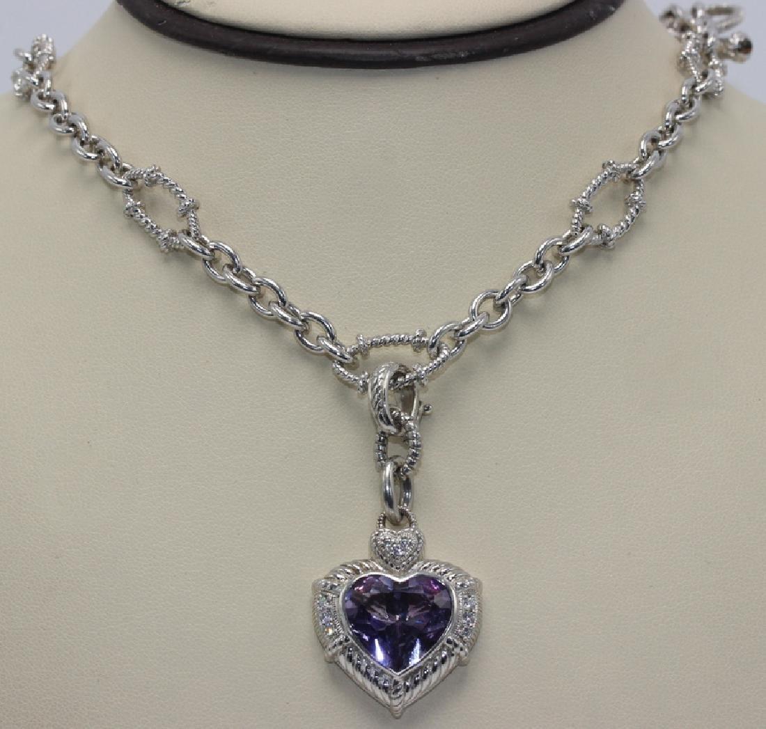 Judith Ripka Sterling Silver, Diamond & Amethyst